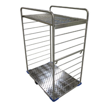 Autoclave Cart with Adjustable Shelves